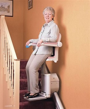 reduced width perch stairlift